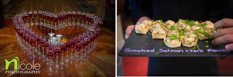 canapes and drinks