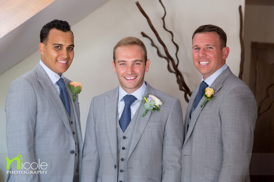 best men and groom