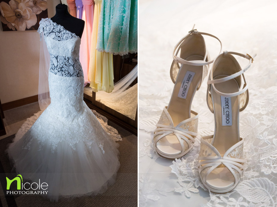 wedding dress jimmy choos