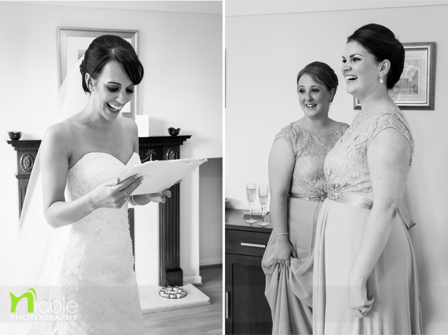 bride and card