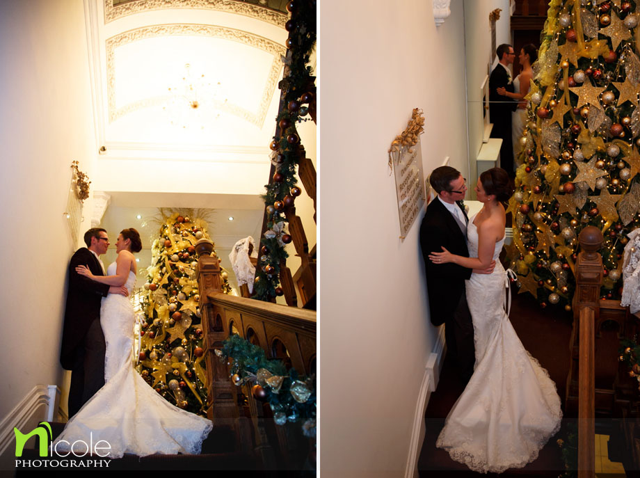 bride and groom west tower