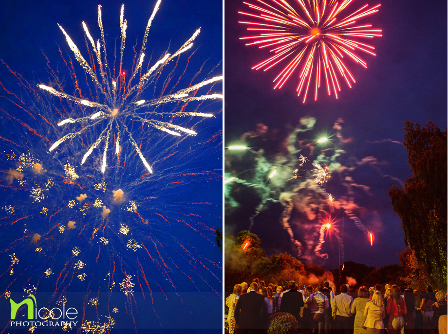 fireworks wedding rowton hall