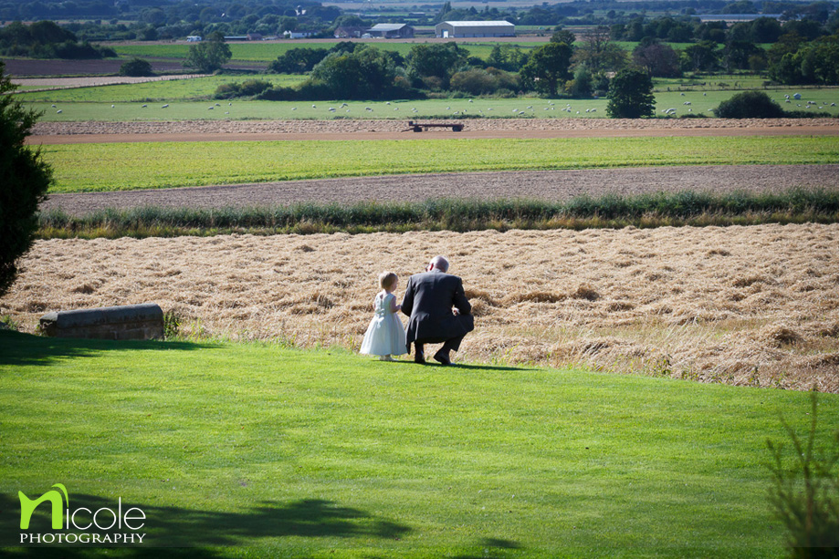 countryside west tower wedding
