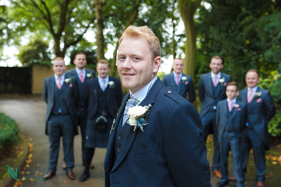 groom in kilt - lancashire wedding photography