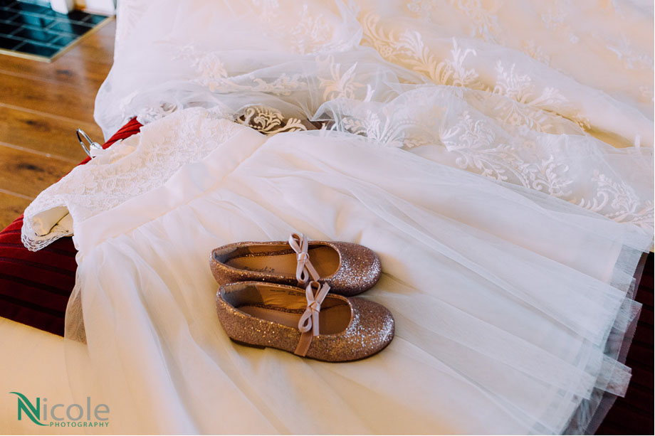 pink shoes - bridal suite - lancashire wedding photography