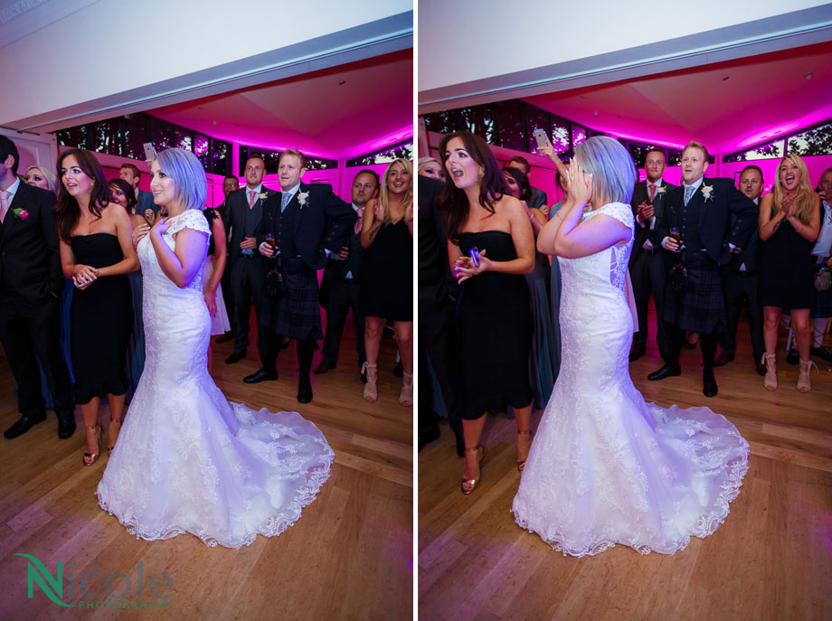 surprise, ball room - Lancashire wedding photography
