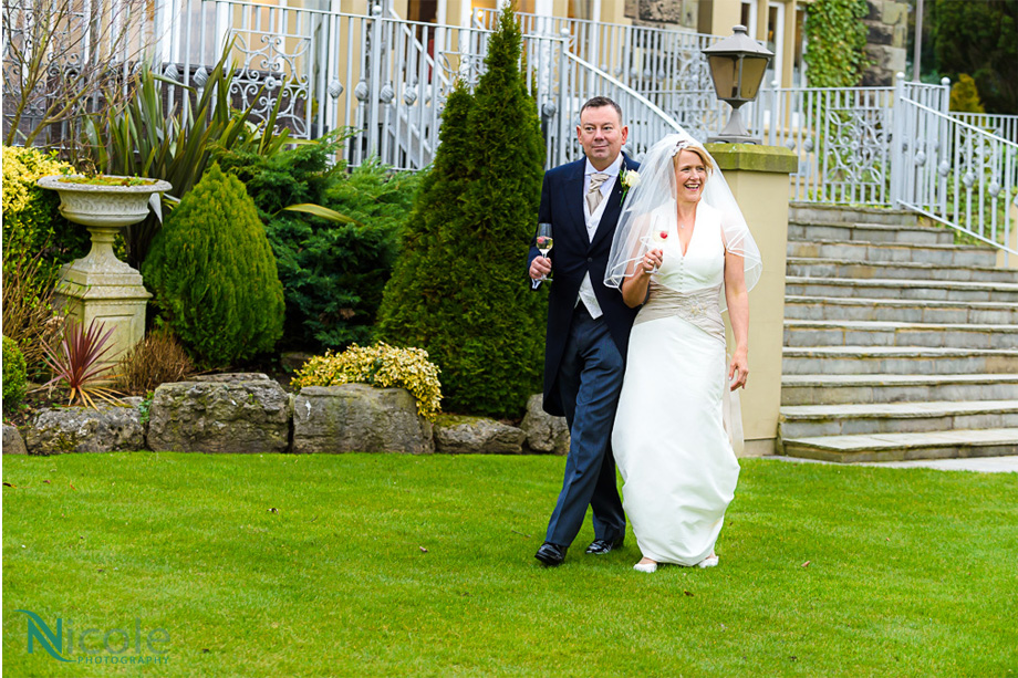 couple walking in the gardens