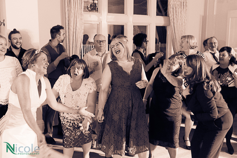 photo of all guests dancing