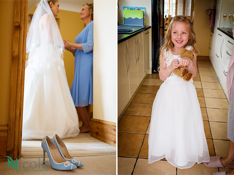 all excited flower girl