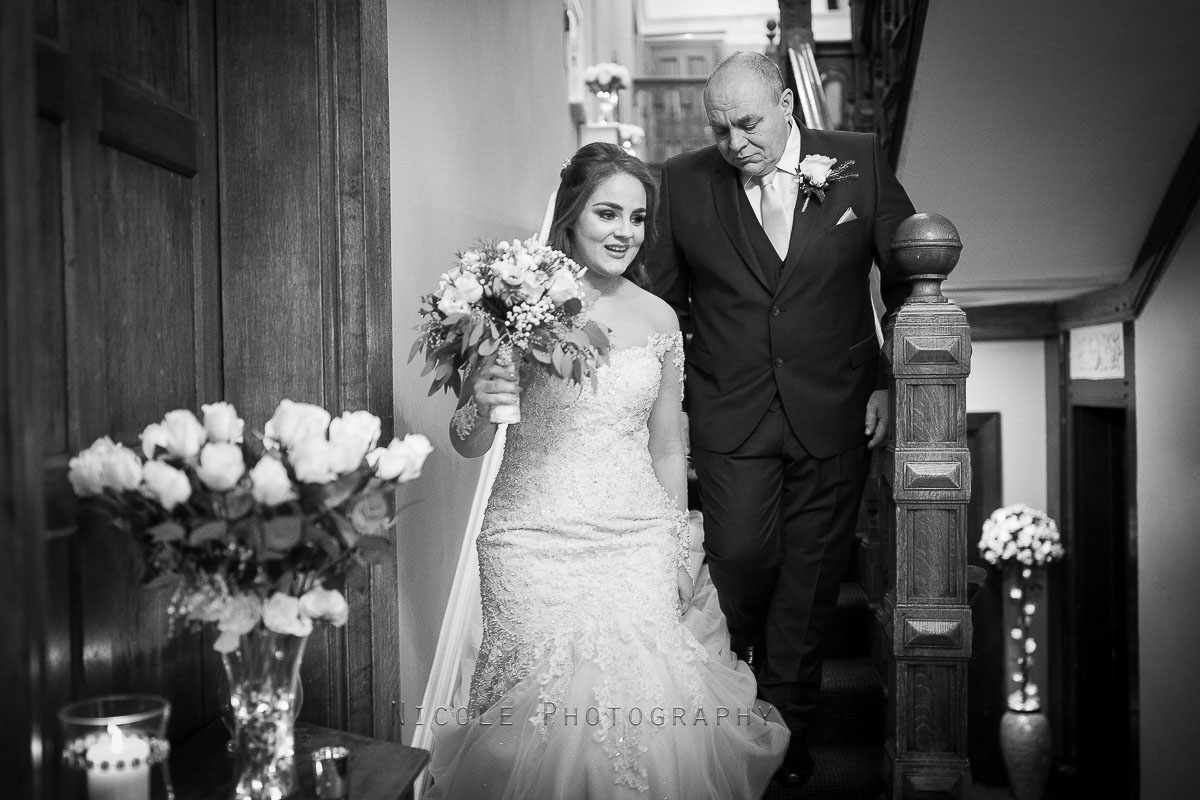 bride and father together