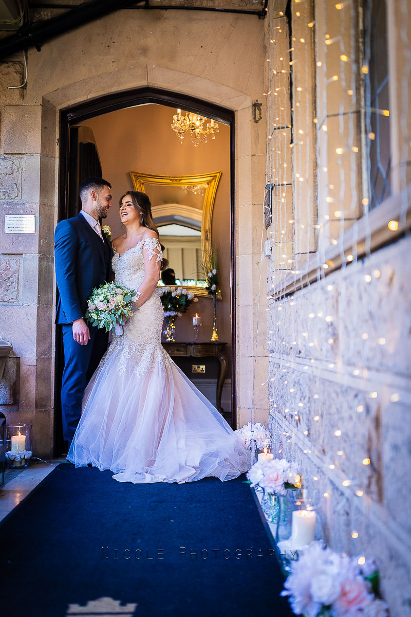 couple at front door