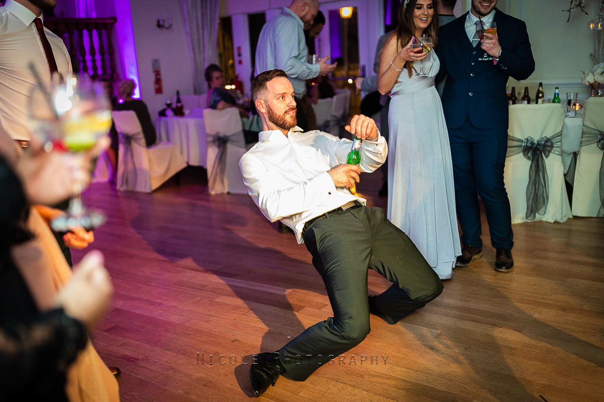 break dancing at wedding